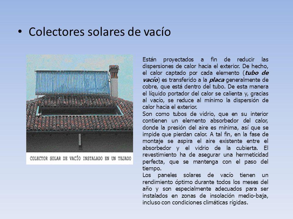Colectores solares de vacío