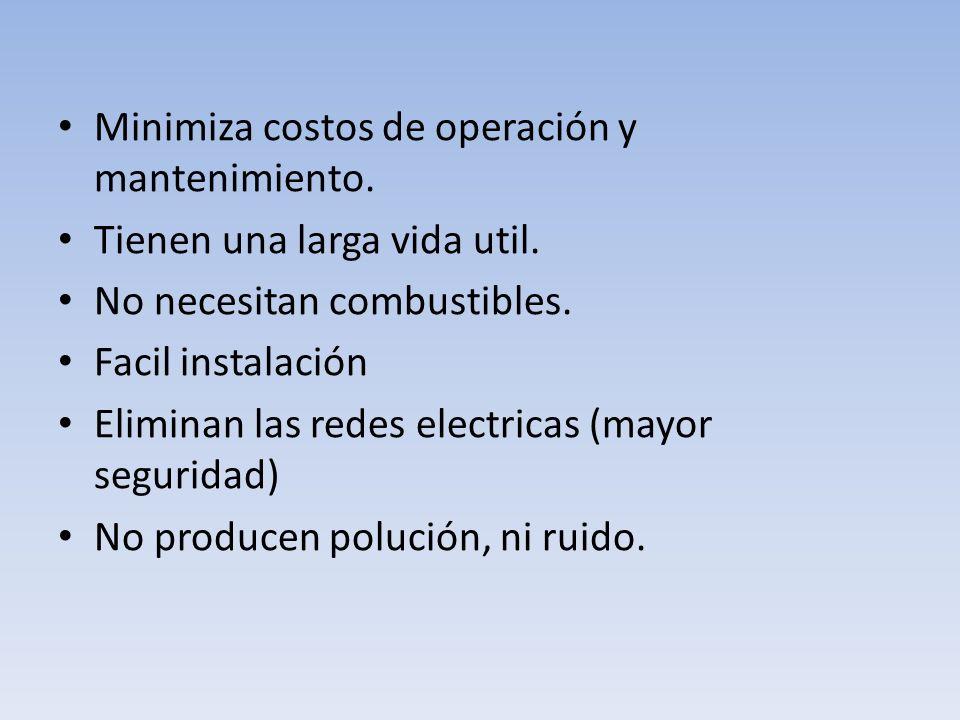 Minimiza costos de operación y mantenimiento.