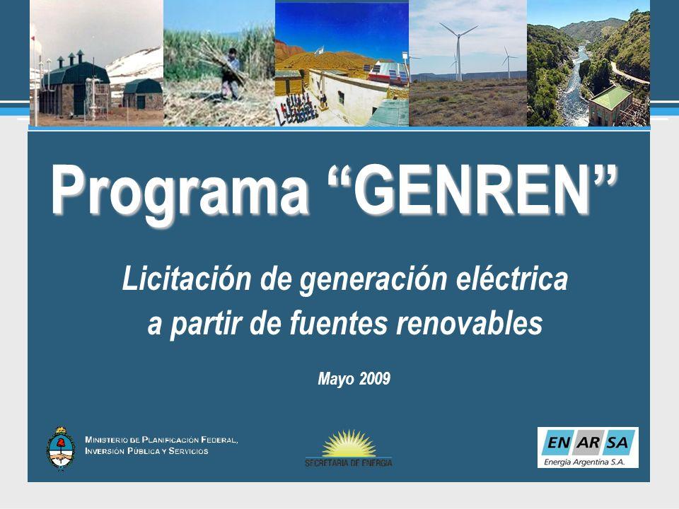Licitación de generación eléctrica a partir de fuentes renovables