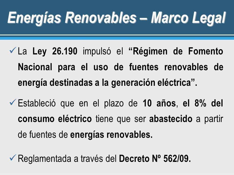 Energías Renovables – Marco Legal
