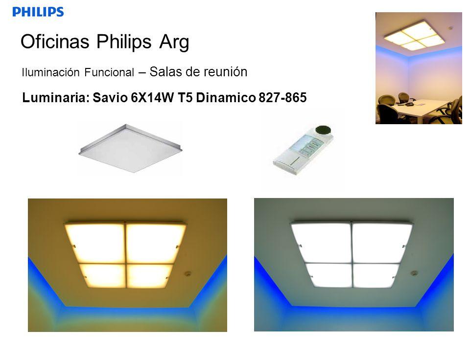 Oficinas Philips Arg Luminaria: Savio 6X14W T5 Dinamico 827-865