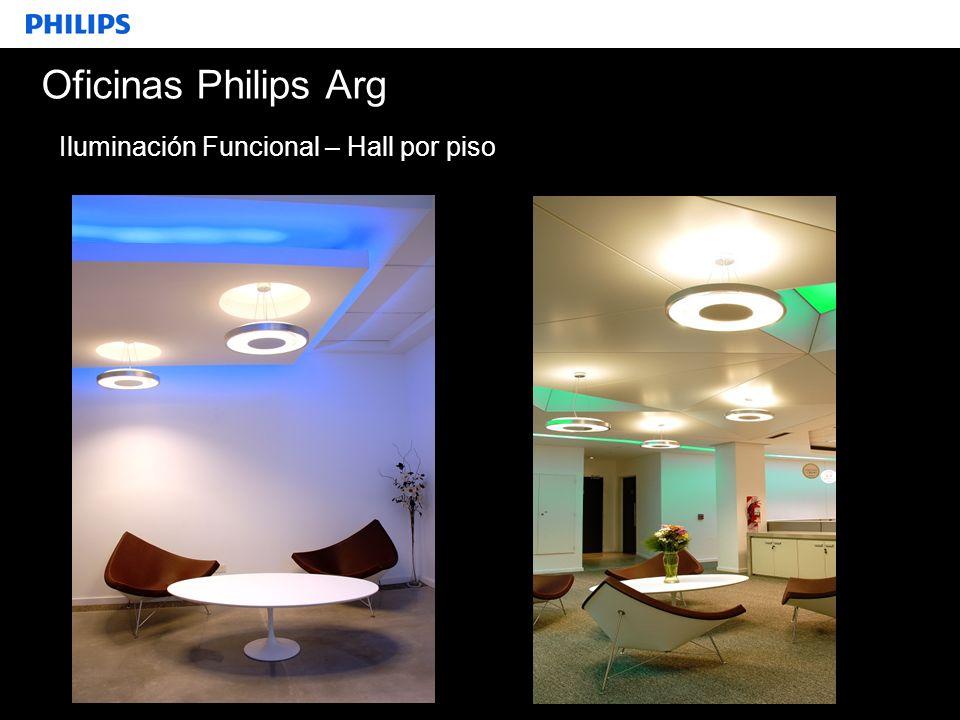 Oficinas Philips Arg Iluminación Funcional – Hall por piso