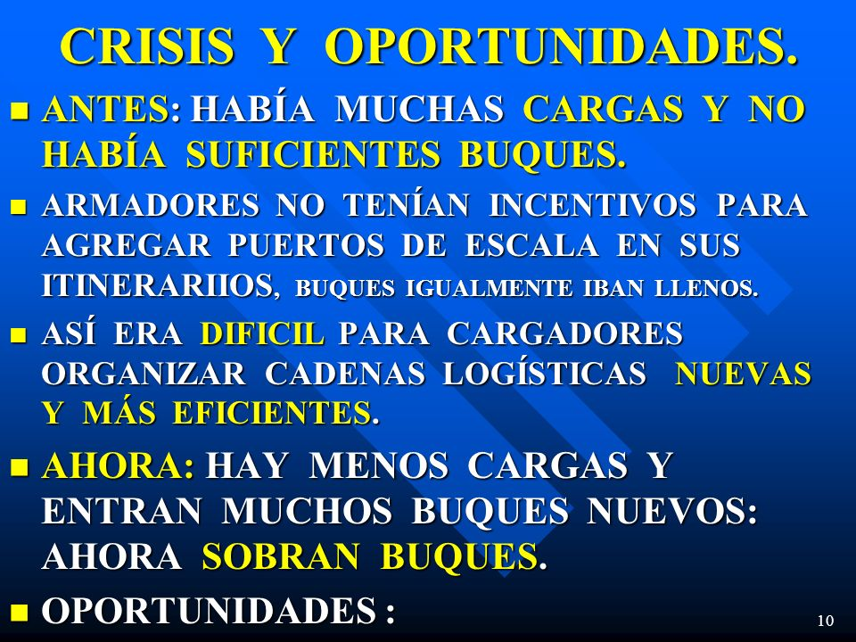 CRISIS Y OPORTUNIDADES.