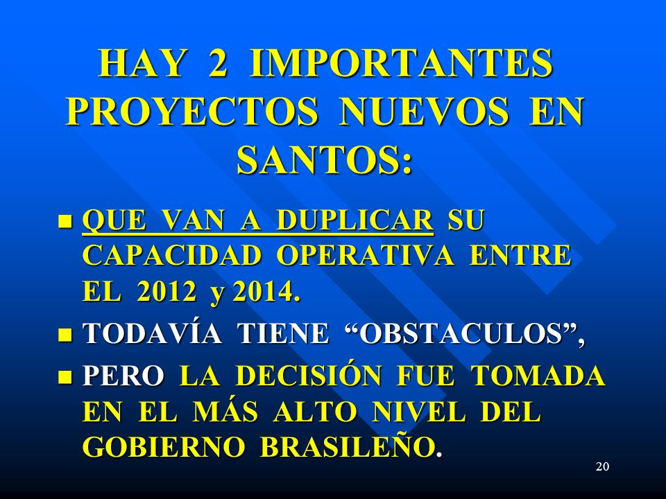 HAY 2 IMPORTANTES PROYECTOS NUEVOS EN SANTOS: