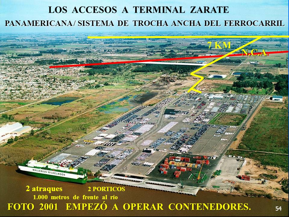 LOS ACCESOS A TERMINAL ZARATE 7 KM N.C.A.