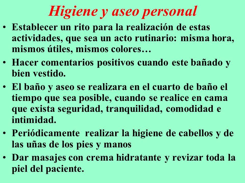 Higiene y aseo personal