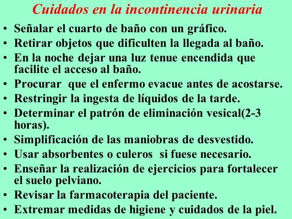 Cuidados en la incontinencia urinaria