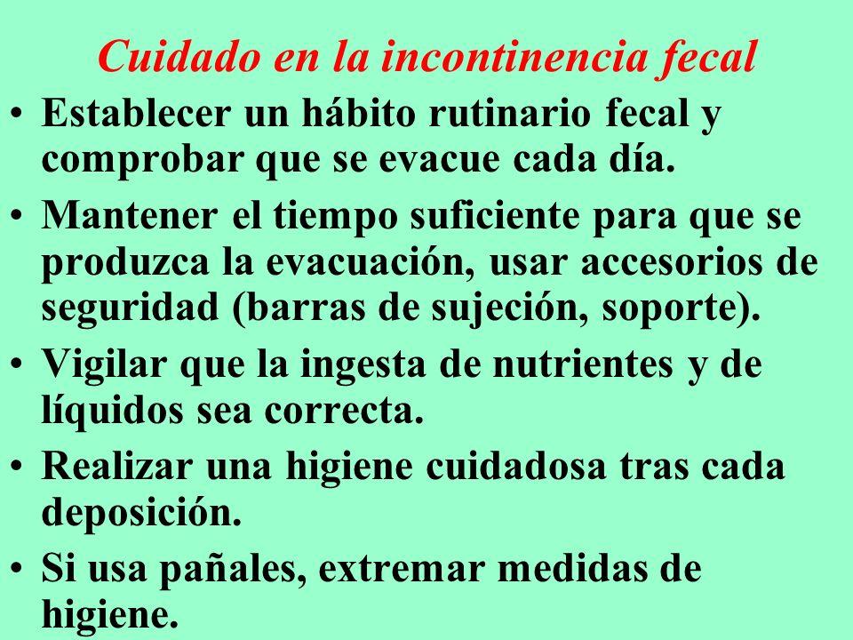 Cuidado en la incontinencia fecal