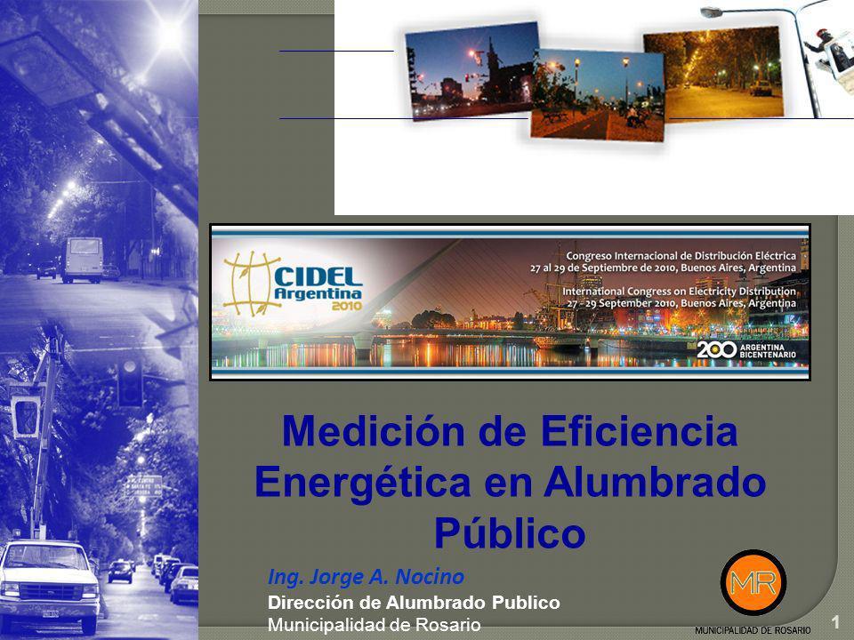 Medición de Eficiencia Energética en Alumbrado Público