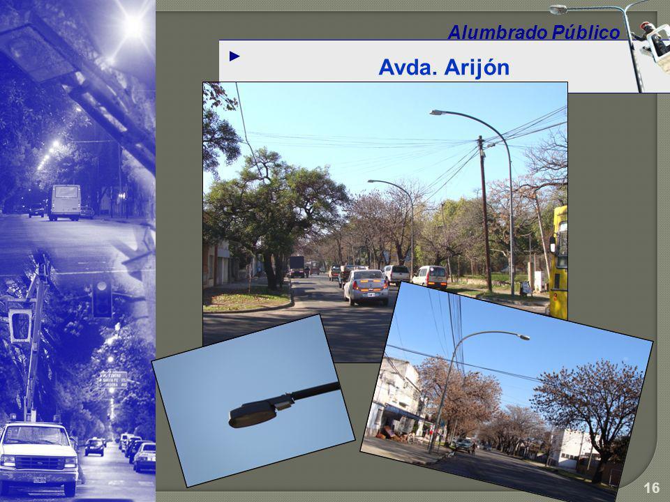Alumbrado Público Avda. Arijón