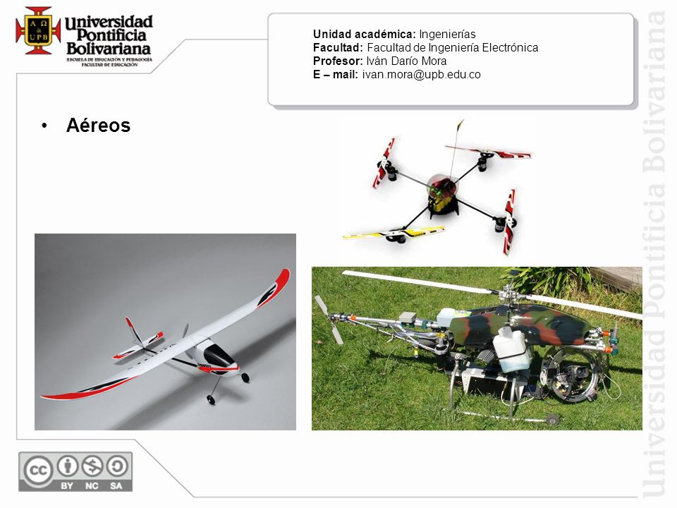 Aéreos Unidad académica: Ingenierías