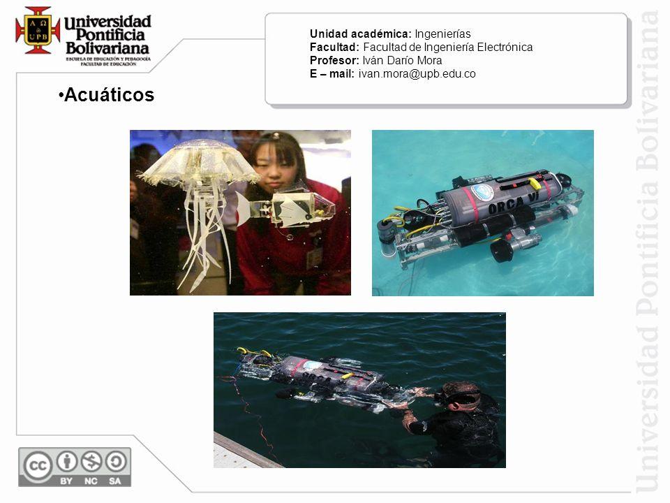 Acuáticos Unidad académica: Ingenierías