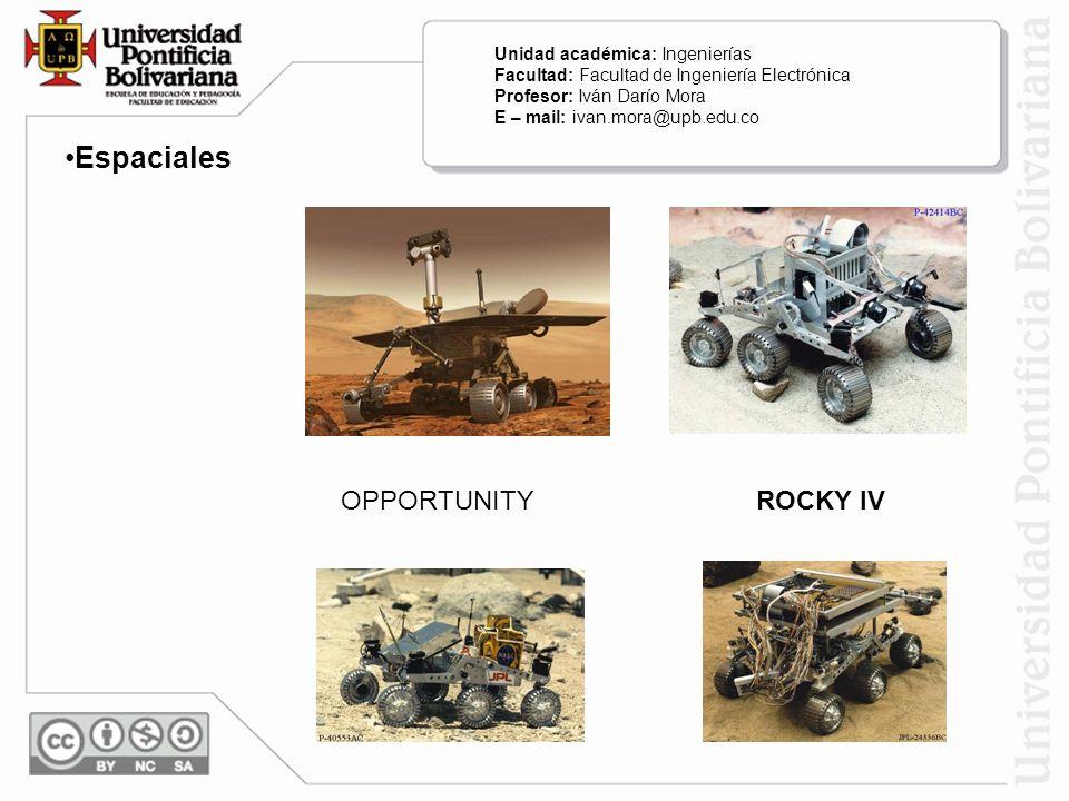 Espaciales OPPORTUNITY ROCKY IV Unidad académica: Ingenierías