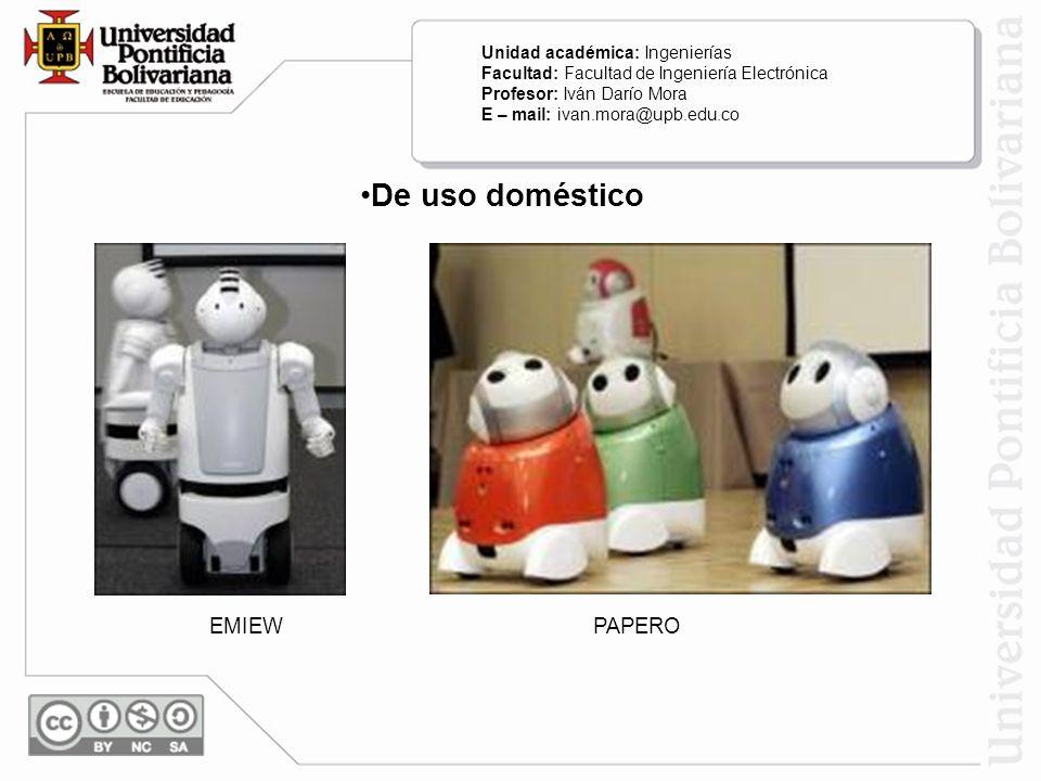 De uso doméstico EMIEW PAPERO Unidad académica: Ingenierías
