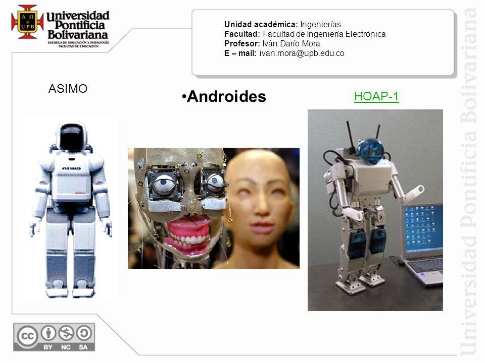 Androides ASIMO HOAP-1 Unidad académica: Ingenierías