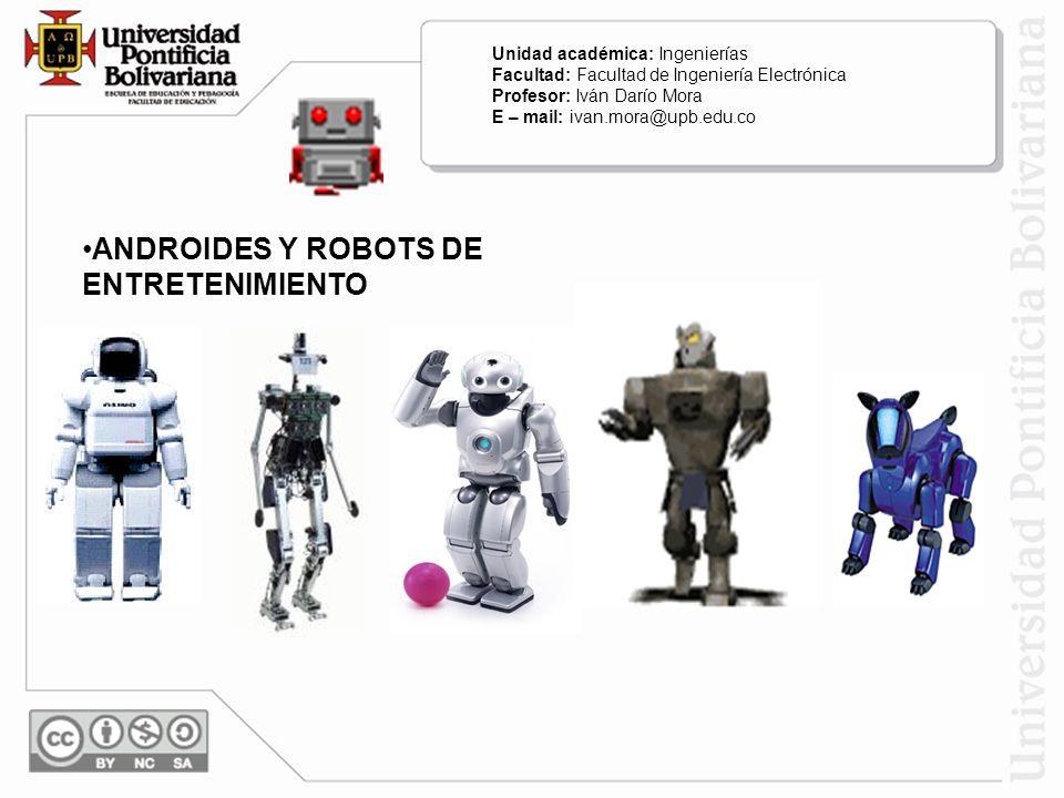 ANDROIDES Y ROBOTS DE ENTRETENIMIENTO