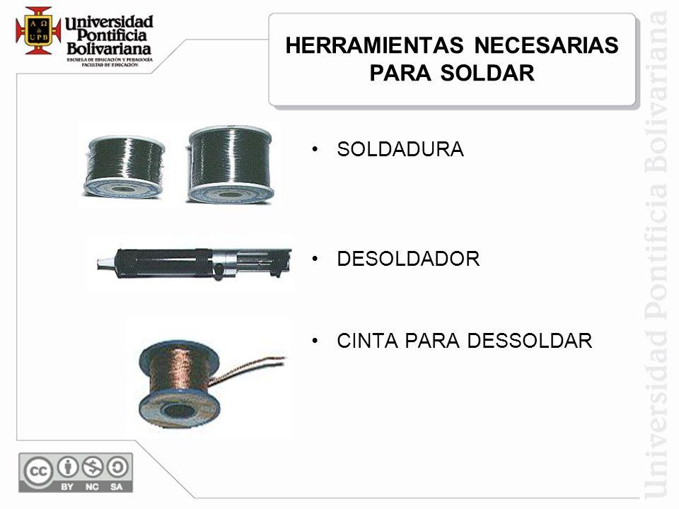 HERRAMIENTAS NECESARIAS PARA SOLDAR