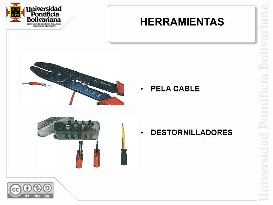 HERRAMIENTAS PELA CABLE DESTORNILLADORES