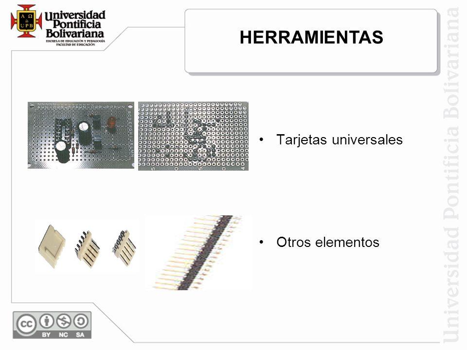 HERRAMIENTAS Tarjetas universales Otros elementos