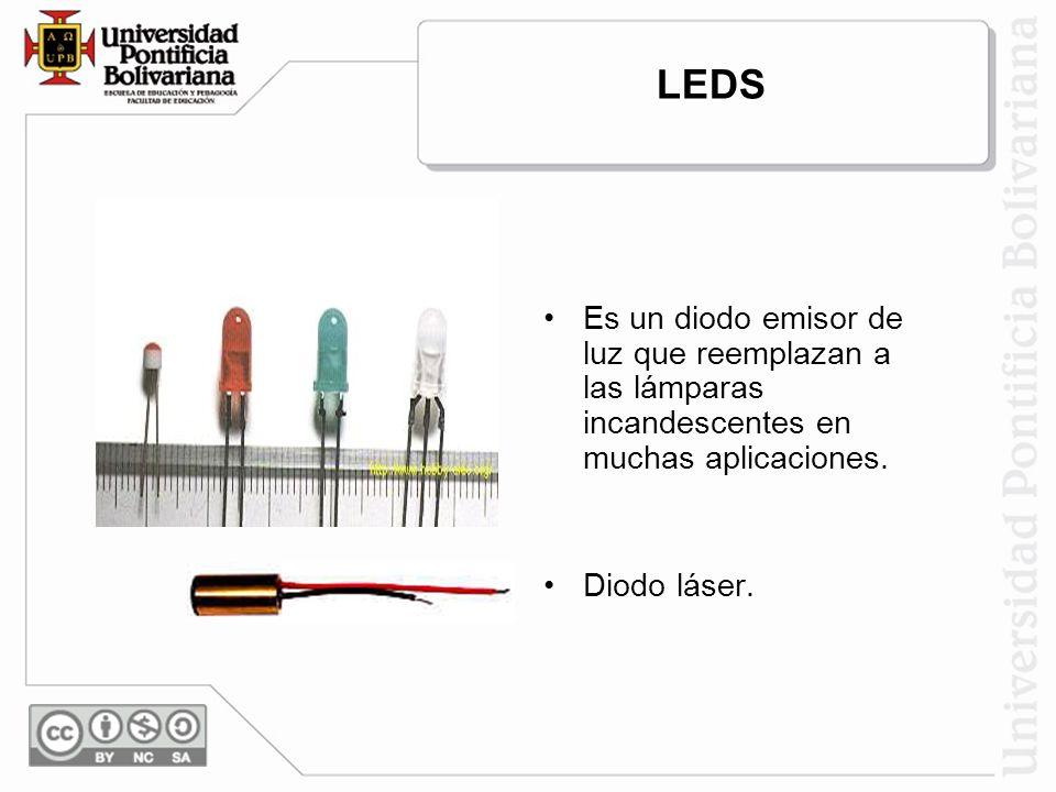 LEDS Es un diodo emisor de luz que reemplazan a las lámparas incandescentes en muchas aplicaciones.