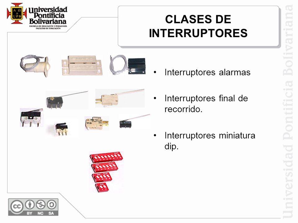 CLASES DE INTERRUPTORES