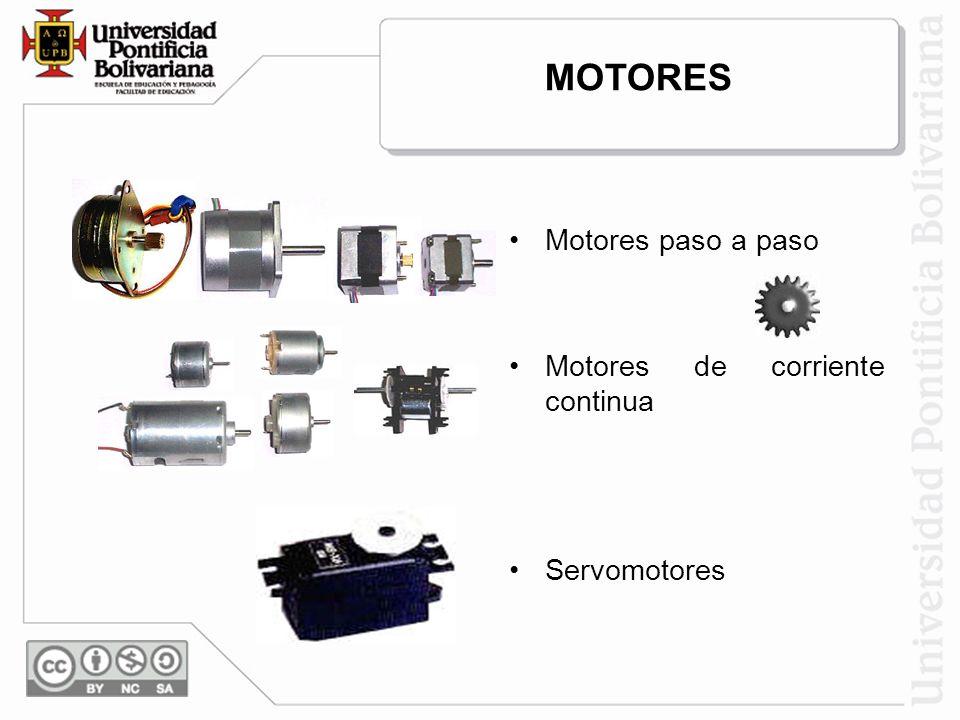 MOTORES Motores paso a paso Motores de corriente continua Servomotores