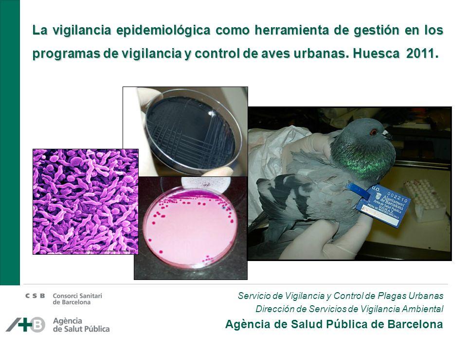 La vigilancia epidemiológica como herramienta de gestión en los programas de vigilancia y control de aves urbanas. Huesca 2011.