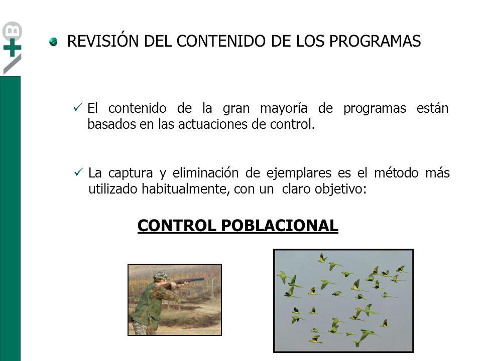 REVISIÓN DEL CONTENIDO DE LOS PROGRAMAS