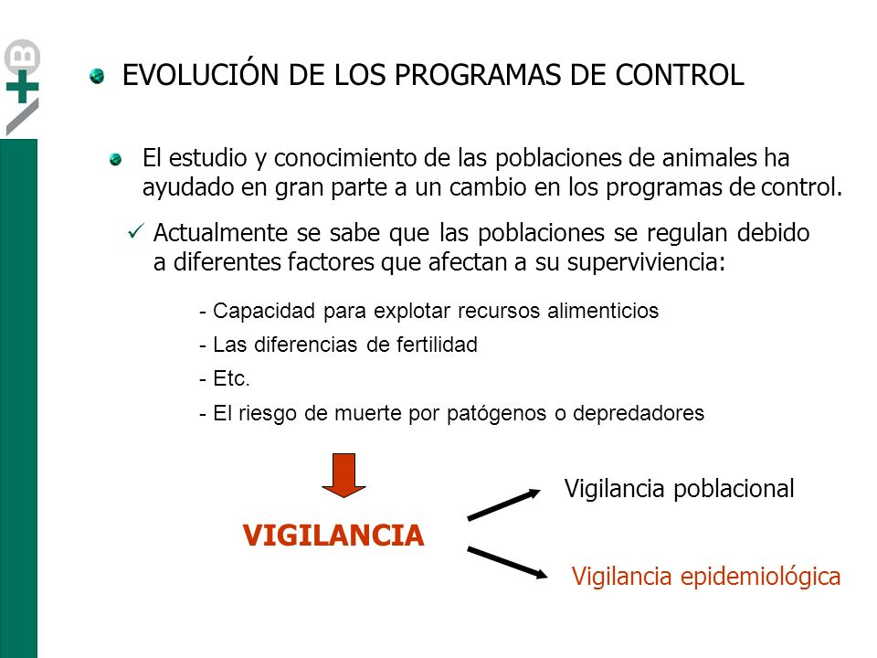 EVOLUCIÓN DE LOS PROGRAMAS DE CONTROL