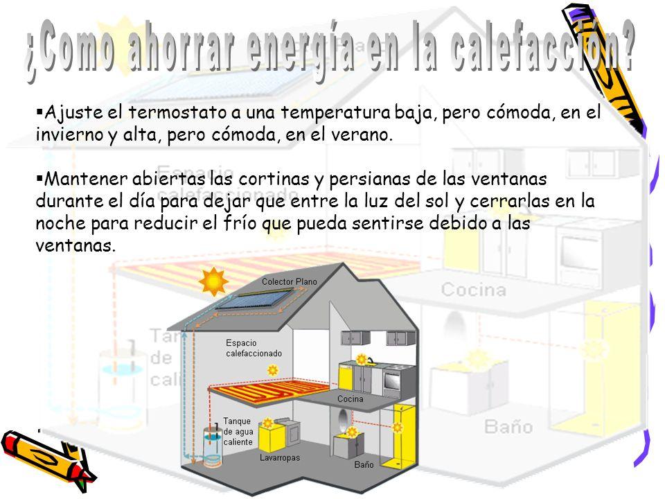 ¿Como ahorrar energía en la calefacción