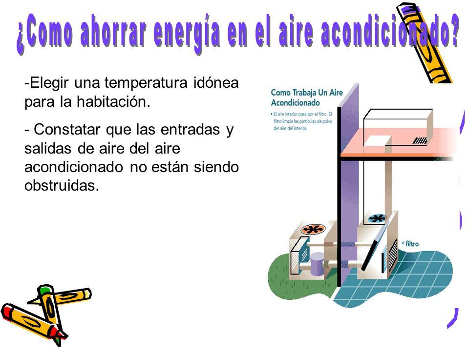 ¿Como ahorrar energía en el aire acondicionado