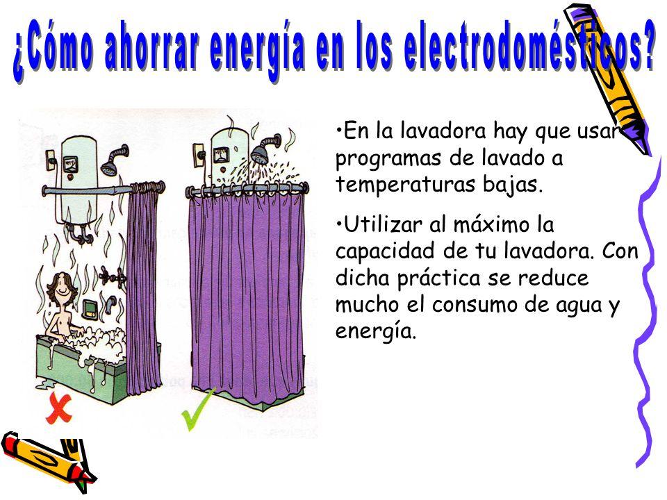¿Cómo ahorrar energía en los electrodomésticos