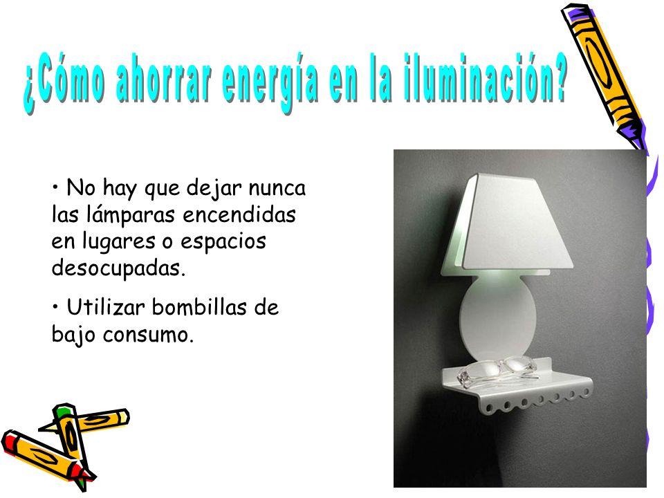 ¿Cómo ahorrar energía en la iluminación
