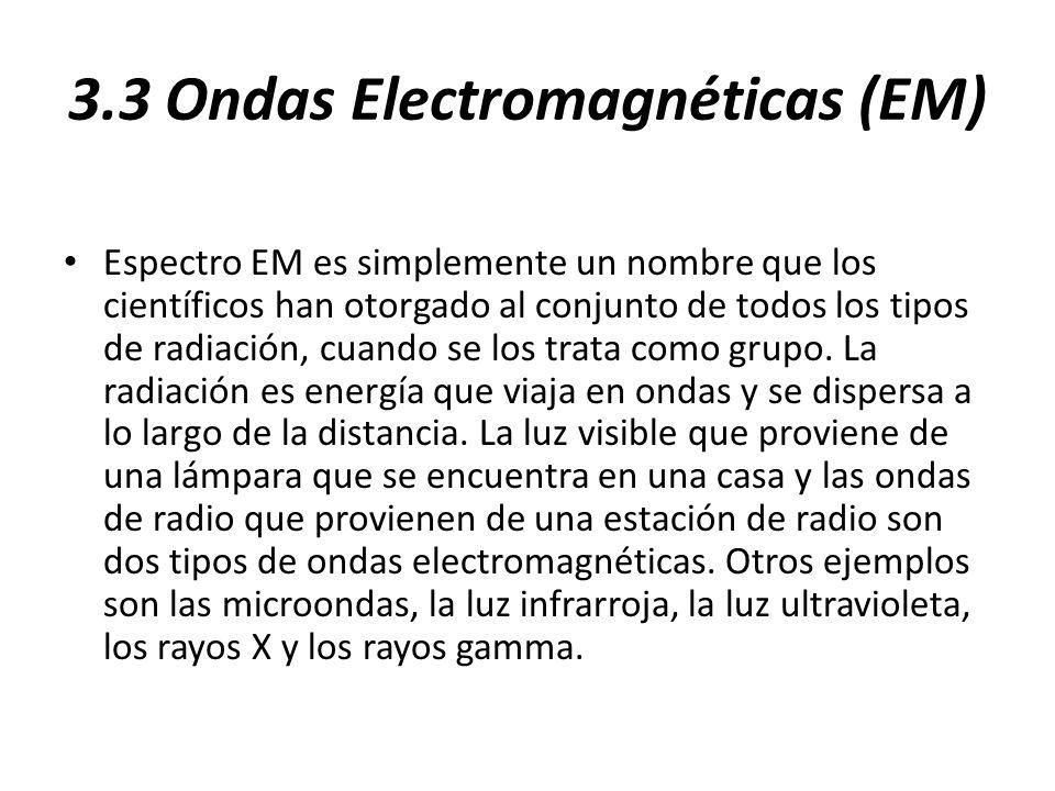 3.3 Ondas Electromagnéticas (EM)