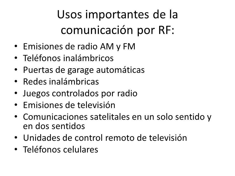 Usos importantes de la comunicación por RF: