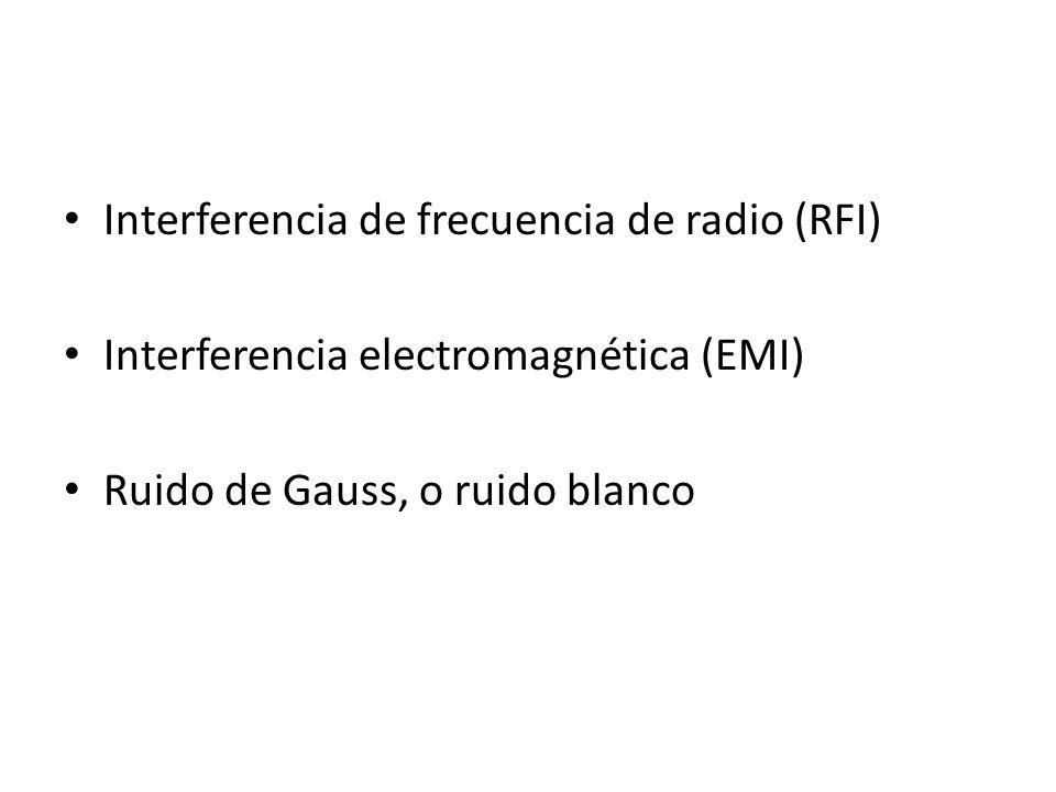 Interferencia de frecuencia de radio (RFI)