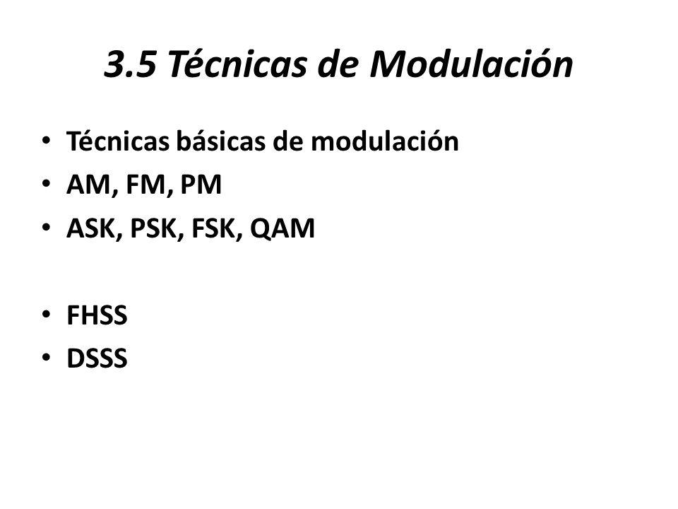 3.5 Técnicas de Modulación
