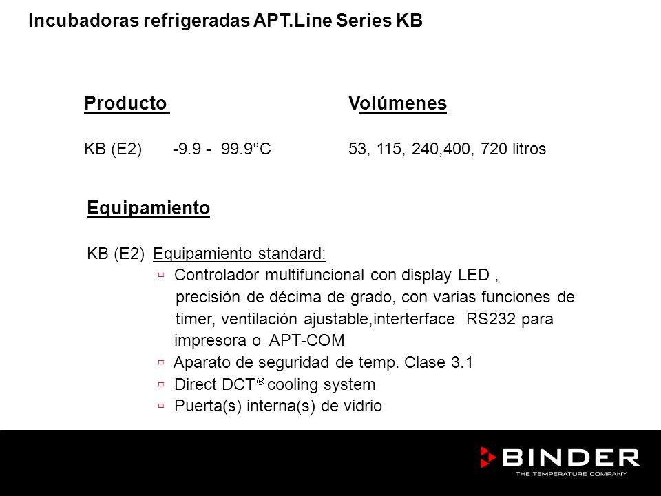 Incubadoras refrigeradas APT.Line Series KB