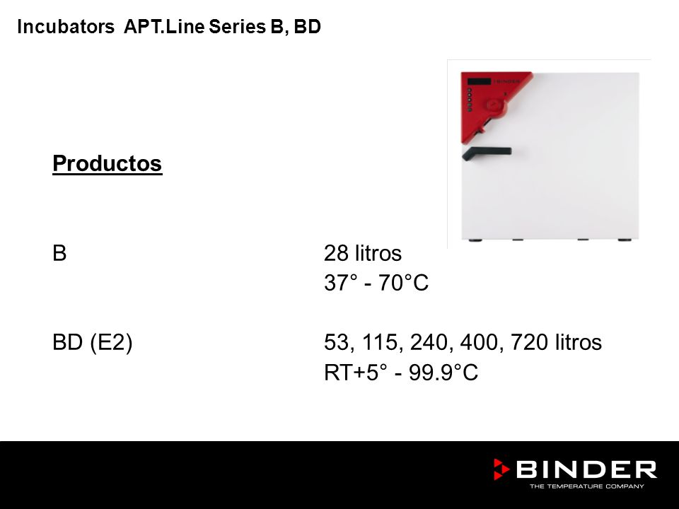 Productos B 28 litros 37° - 70°C BD (E2) 53, 115, 240, 400, 720 litros