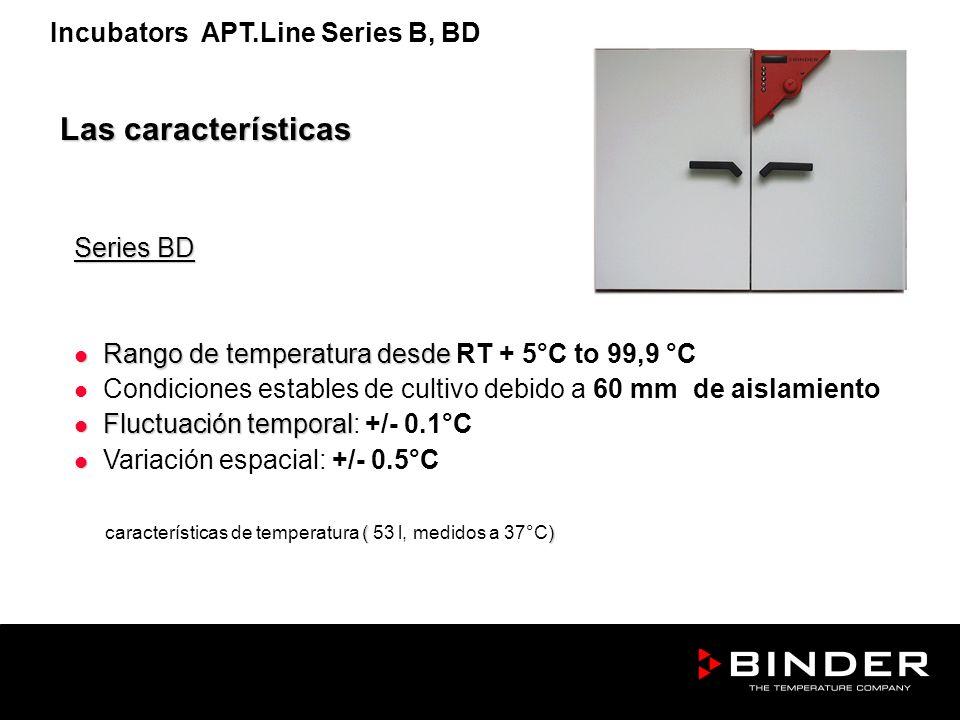 Las características Incubators APT.Line Series B, BD Series BD
