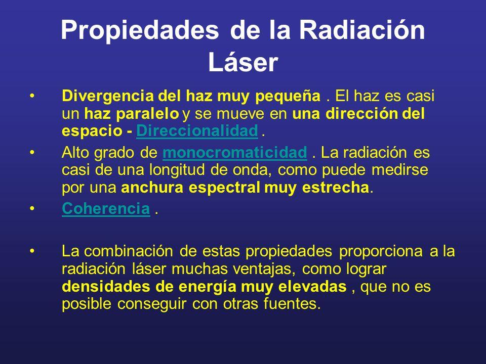 Propiedades de la Radiación Láser