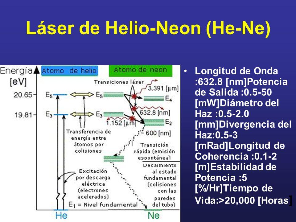 Láser de Helio-Neon (He-Ne)