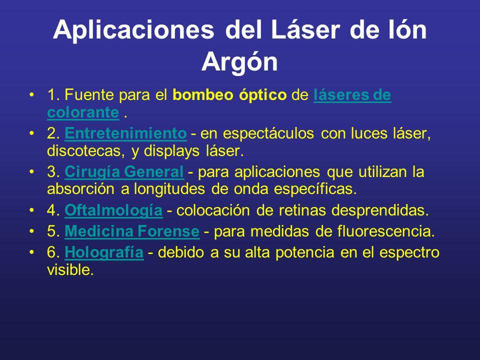 Aplicaciones del Láser de Ión Argón