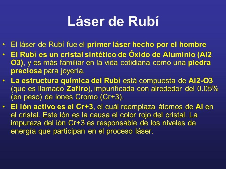 Láser de Rubí El láser de Rubí fue el primer láser hecho por el hombre