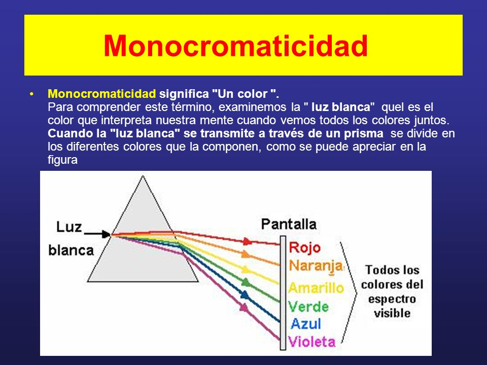 Monocromaticidad