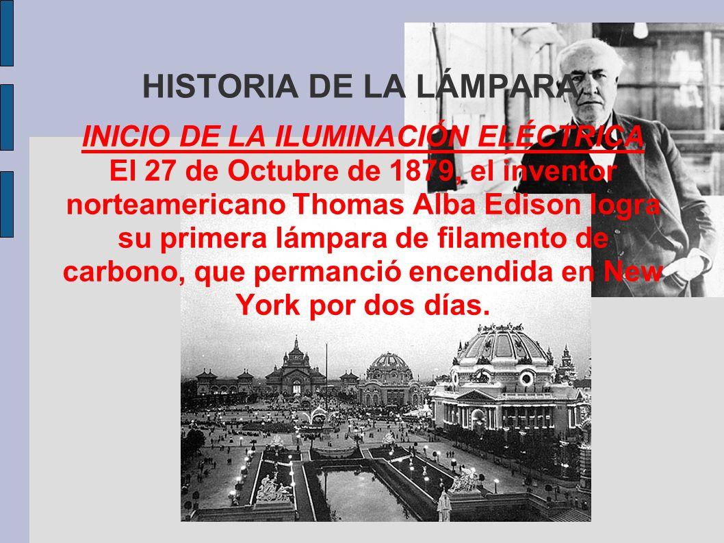 INICIO DE LA ILUMINACIÓN ELÉCTRICA