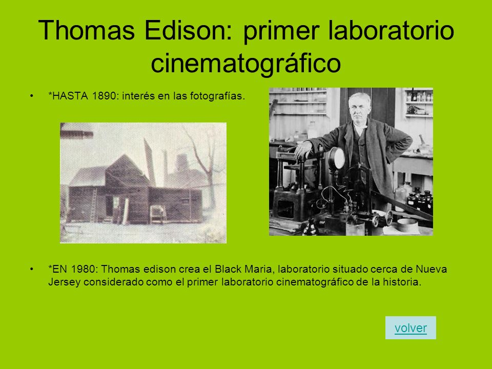 Thomas Edison: primer laboratorio cinematográfico