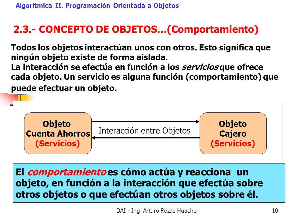 2.3.- CONCEPTO DE OBJETOS…(Comportamiento)