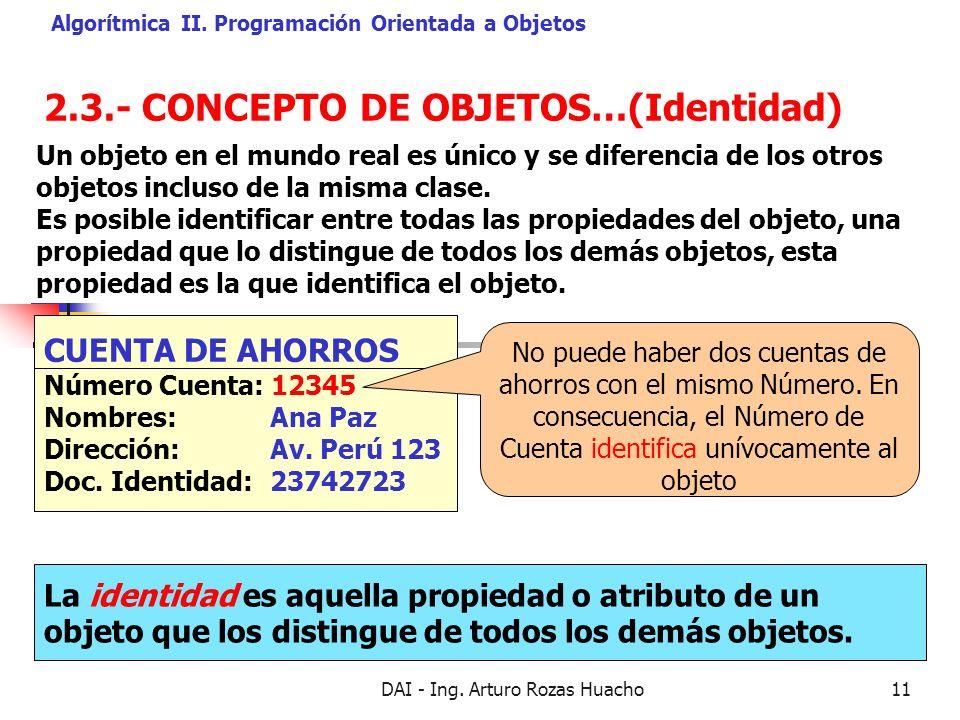 2.3.- CONCEPTO DE OBJETOS…(Identidad)