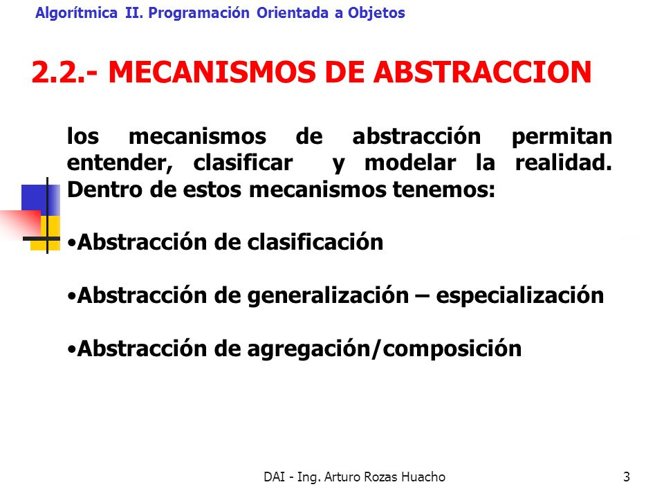 2.2.- MECANISMOS DE ABSTRACCION